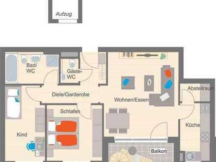 Herrliche 3-Zimmer-Wohnung mit Südbalkon - Neubau/Erstbezug