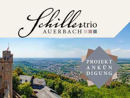 Schillertrio Bensheim-Auerbach im KfW 55 Standard: 2 ZKB mit Blick ins Grüne!