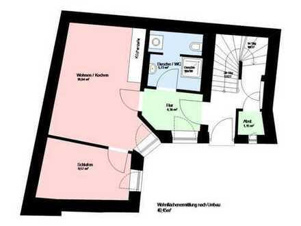 Schöne, geräumige ein Zimmer Wohnung in München, Ludwigsvorstadt-Isarvorstadt