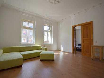 große 3-Raum-Wohnung im Hochparterre*Balkon*innenliegendes Duschbad
