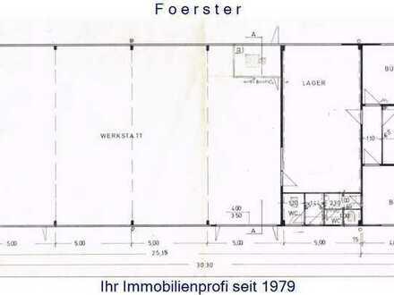 Werkstatt/Fabrikation/Lagerfläche mit 3 Büros zu mieten in Pforzheim.