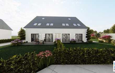 Projektierte Doppelhaushälfte