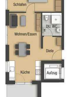 Moderne 2 - Zimmerwohnung mit Gartenanteil