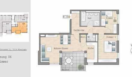 3 Zimmer-Neubauwohnung zentral gelegen