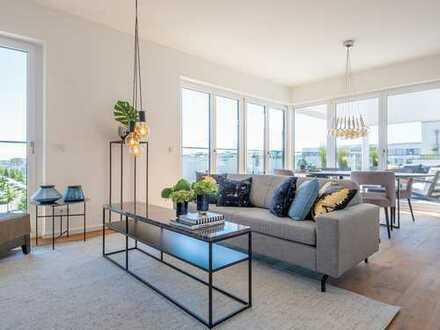 Lebensraum der Extraklasse! Bezugsfähiges Penthouse mit Dachterrasse und einem Maximum an Freiraum
