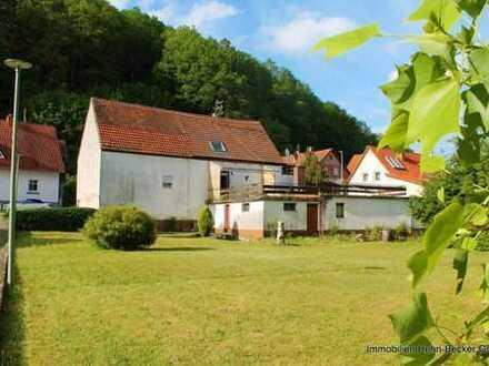 +++Bauernhaus mit großer Südterrasse, Scheune, Baugelände, Garage+++