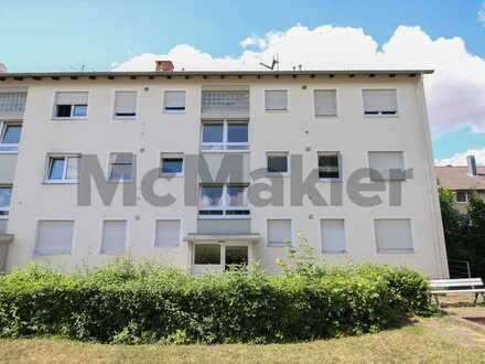 Zentral und idyllisch: Gepflegte 3-Zi.-Wohnung mit Westbalkon und Freistellplatz in der Brunnenstadt