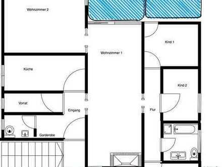 helle 5-Zimmer Wohnung zu vermieten