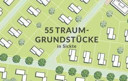 Baugrundstück für Einfamilienhaus, Doppelhaus im Neubaugebiet in Sickte