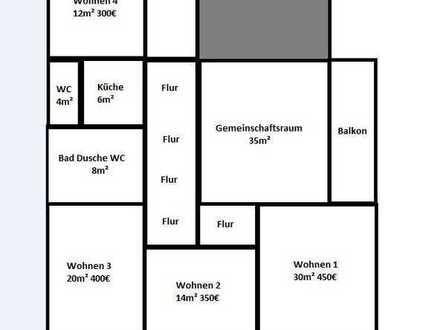 WG in Sanierter Wohnung mit 4 Zimmern + Gemeinschaftsraum und Balkon in Neustetten, Remmingsheim