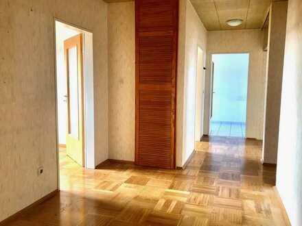 Bezugsfrei! Gepflegte 4-Zimmer-Wohnung mit überdachtem Balkon, Einzelgarage und Keller