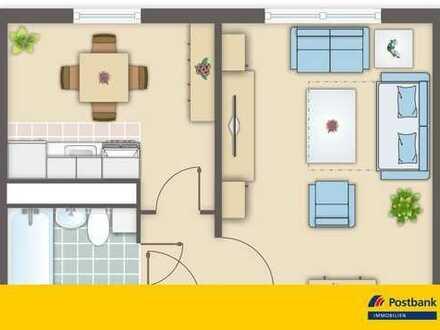 Bezugsfertige 1-Raum-Wohnung mit super Ausblick