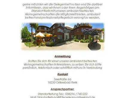 Ambulant betreute Wohngruppen und Dementen WG´s im Ostseebad Rerik