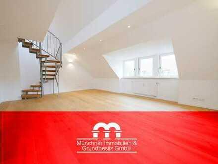 Erstbezug nach Sanierung   Exklusive 3 Zi. Dachgeschoss-Maisonette-Wohnung in begehrter Lage