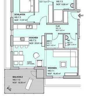 Letzte verfügbare Wohnung im Neubauprojekt!