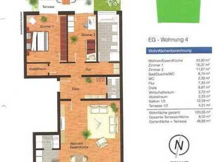 Exklusive Erdgeschosswohnung neuwertig mit erstklassiger Einbauküche