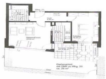 Exklusive 2-Zimmer-Erdgeschosswohnung mit Balkon und EBK in Milbertshofen, München
