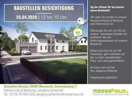 Tag der offenen Tür am Sonntag 26.04.20 von 12 bis 15 Uhr bei unserer Baufamilie in Warmsroth!