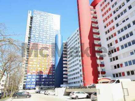 Modern, hochwertig, zentral: Möbliertes 1-Zi.-Apartment im Herkules Hochhaus, Ehrenfeld