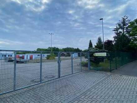 Befestigter Lagerplatz ggf. mit Lager- / Aufenthalts- / Bürocontainer
