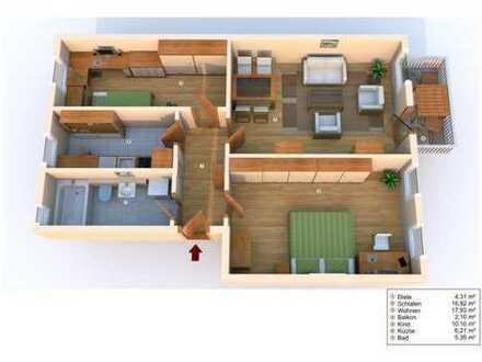 Kleine 3 Zimmerwohnung mit Balkon