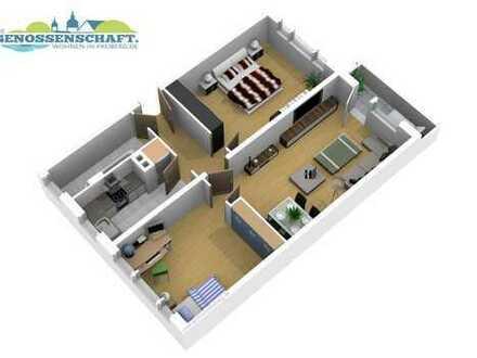 Geräumige 3 Raum Wohnung - Balkon - 63 m²