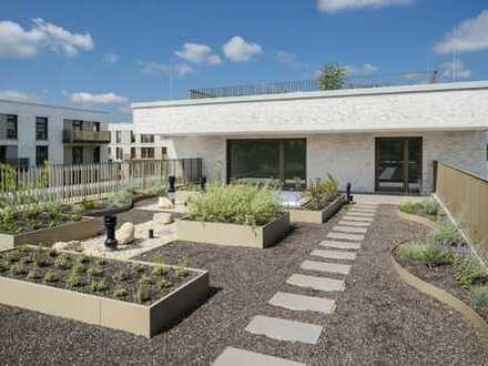 Penthouse-Wohnung mit großzügiger Dachterrasse und weitläufigem Rheinblick