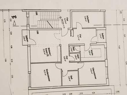 Neuwertige Seniorenwohnung barrierefrei mit vier Zimmern Loggia und Balkon in Mannheim-Rheinau