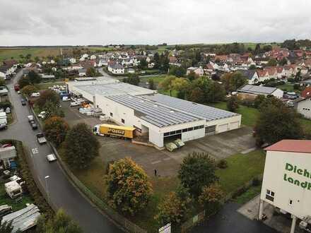 Gewerbepark am Gambacher Kreuz - Hallenfläche mit überdachter Freifläche - frei ab 01.07.2021