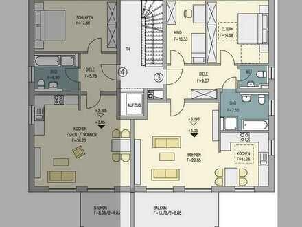 Riesige 3-Zimmer Wohnung mit großen Balkon