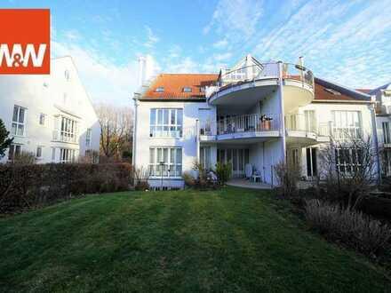 Bezugsfreie 2 Zimmerwohnung plus Tageslicht-Souterrain und über 200 m² Privatgarten in München Thalk