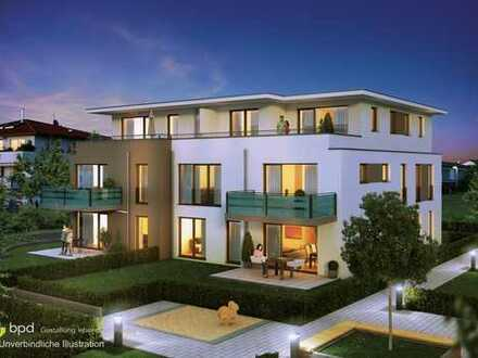 Haus 1: 3 Zimmer Erdgeschosswohnung mit Terrasse und Garten