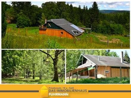 Ferienhaus mit viel Wald- und Wiesenflächen!