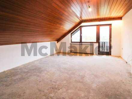 Pures Potenzial: 3-Zi.-Dachgeschosswohnung mit Südbalkon nahe Hanau