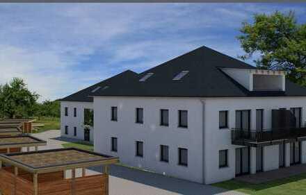 Dachterrasse mit Fernblick über Feld und Wiese / NEUBAU / KfW-55-Standard