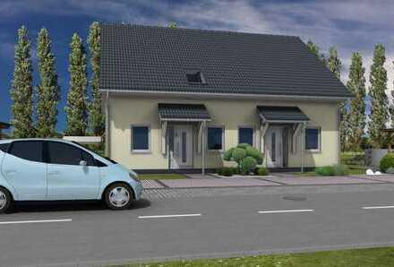 Neubau Doppelhaushälfte in Wartenberg in Massivbauweise.