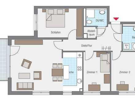 Helle 4-Zimmer-Wohnung mit Balkon und EBK in Tübingen Schleifmühleweg