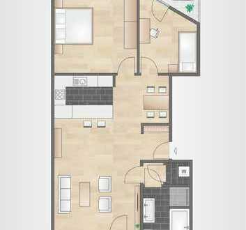 Stilvolle, neuwertige 3-Zimmer-Wohnung mit 2 Balkonen und EBK in Mannheim-Lindenhof