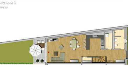 Individuelles 4 Raum Garden House mit offener Küche, Terrasse und Gartennutzung