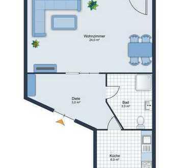 E & Co.- TOP LAGE  Mü./ Maxvorstadt n.Türkenstr. - voll möbliertes 1 Zimmer Appartment mit Balkon