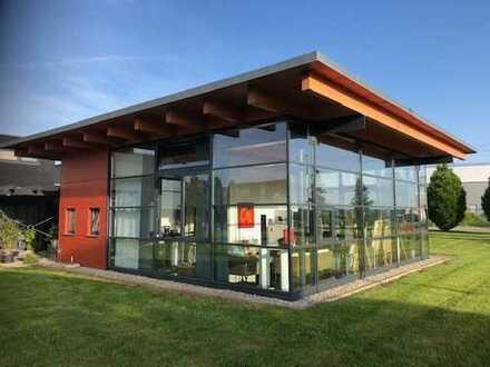 Top-Design, bestens gepflegt: Gewerbehalle, Ausstellungs- und Bürogebäude in Aldingen bei Tuttlingen