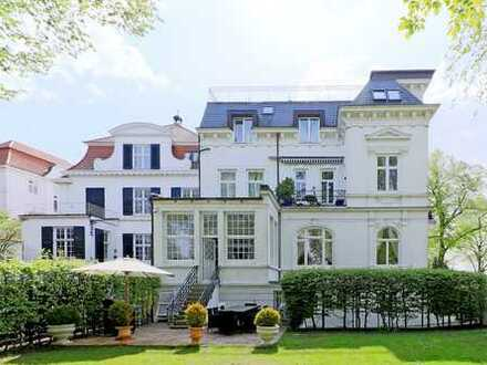 Gartenwohnung direkt an der Alster! Maisonette Wohnung mit großem, uneinsehbarem Garten zu verkaufen