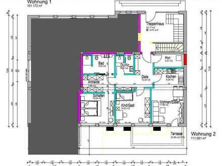 Erstbezug nach Kernsanierung - 3-Zimmer-Wohnung mit Terrasse