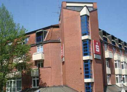 1-Zimmerwohnung mit großem Balkon (Parkblick) in Emder Innenstadt zu vermieten