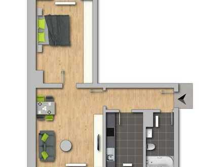 **Herzlich Willkommen! 2-Raum-Wohnung renoviert, ab sofort **