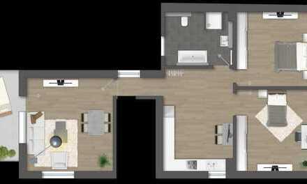Neue 3 Zimmer Eigentumswohnung (DG), Altbau + Neubau mit erweiterter Wohnfläche