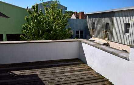 Wohnen auf ehemaligen Mühlengelände mit historischem Fachwerk und Bachlauf