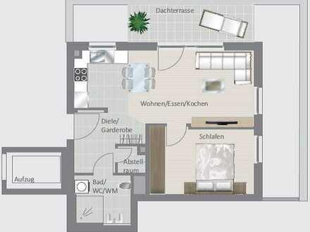 Barrierefreie 2,5-Zimmer-Wohnung mit hübscher Dachterrasse!