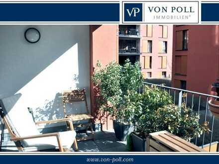 Attraktive Drei-Zimmer-Wohnung mit Balkon am Westhafen