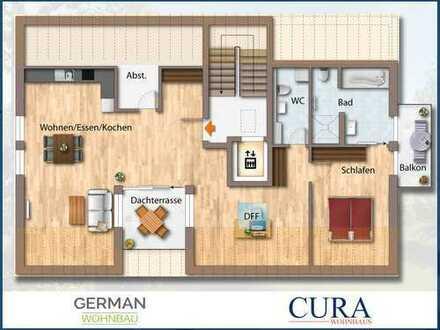 Willkommen in Gars! Neubau Penthouse-Wohnung mit Dachterrasse und Balkon (KfW55)
